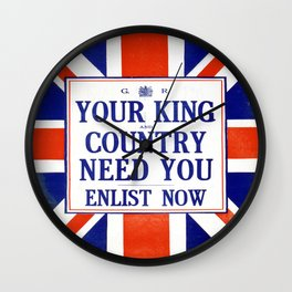 Vintage poster - Your King and Country Need You Wall Clock