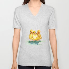 Little Ducks Unisex V-Neck