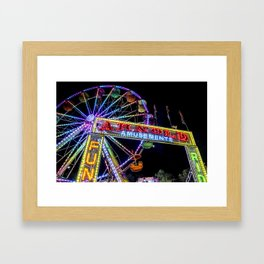 Ferris Wheel at Carnival Framed Art Print