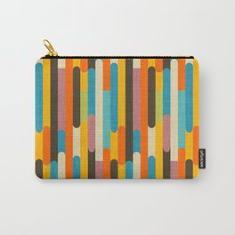Retro Color Block Popsicle Sticks Orange Carry-All Pouch