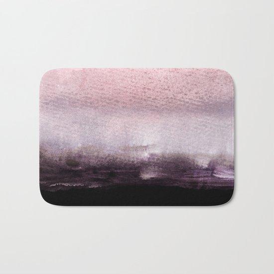 blush over purple Bath Mat