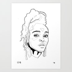 FKA Twigs Portrait Art Print