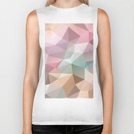 Abstract triangles polygonal pattern Biker Tank