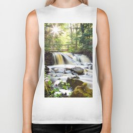 Upper Chapel Falls at Pictured Rocks National Lakeshore - Michigan Biker Tank