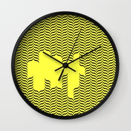rad pattern Wall Clock