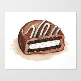 Chocolate Covered Cookie Canvas Print