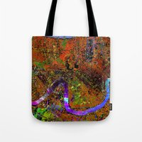 new orleans Tote Bags featuring new orleans by donphil