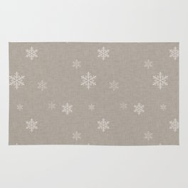 Snow Flakes pattern Beige #homedecor #nurserydecor Rug