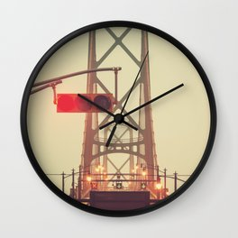 Red Light Bridge Wall Clock