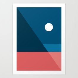 Geometric Landscape 08 Art Print