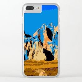 Visit Badlands Retro Postcard Clear iPhone Case