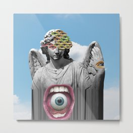 Angel's Surveillance Metal Print