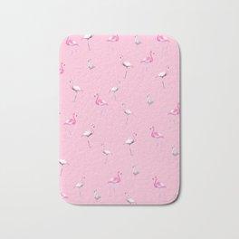Pink Flamingo Summer Pattern #1 #tropical #decor #art #society6 Bath Mat