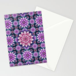Embroidered pink & purple Stationery Cards
