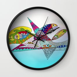 fantastic geometrical forms -3- Wall Clock