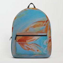 GoldFish Bubbles 1ne watercolor by CheyAnne Sexton Backpack