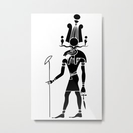 Khensu - God of ancient Egypt Metal Print