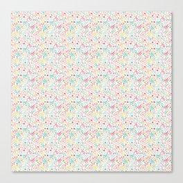 Birthday Confetti Pastel Print Canvas Print