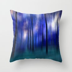 forest abstract Throw Pillow