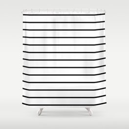 Minimalist Stripes Shower Curtain