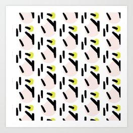 Beige circles Art Print