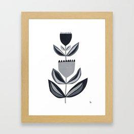 blooming I black Framed Art Print
