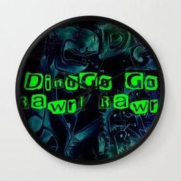 DINOGO GO! GLOW!  Wall Clock