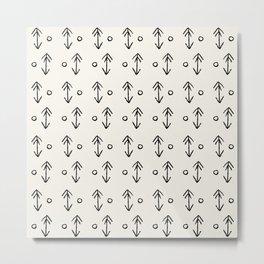 Arrow and Dot Metal Print