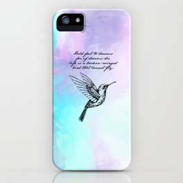 Langston Hughes - Hold Fast to Dreams iPhone Case