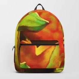 Glowing Watercolor Lotus Leaf Backpack