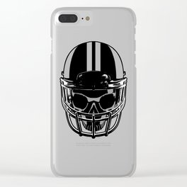 Final Touchdown - FADED CERULEAN Clear iPhone Case
