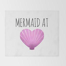 Mermaid At Heart Throw Blanket