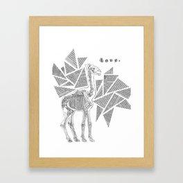Skeletal Giraffe Framed Art Print