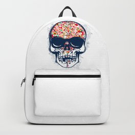 Dead Skull Zombie with Brain Backpack