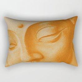 Siddharta Gautama oranje Rectangular Pillow