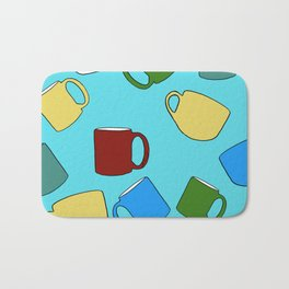 Coffee Mugs! Bath Mat