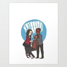 Screech Art Print