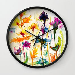 Hot summer meadow Wall Clock