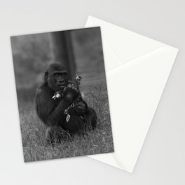Cheeky Gorilla Lope Mono Stationery Cards
