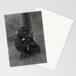 Cheeky Gorilla Lope Mono Stationery Cards