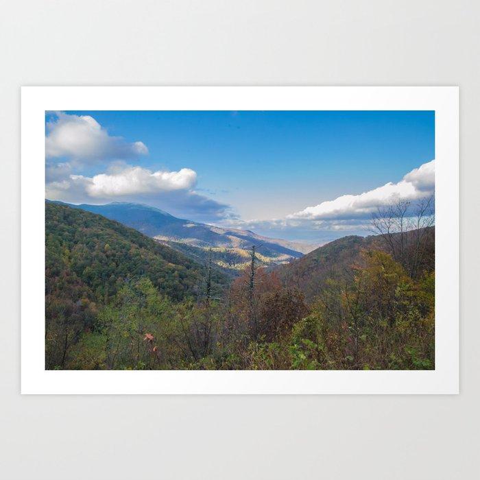 Blue Ridge Peaks Art Print