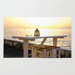 Relaxation at Sunset in Mykonos, Greece Rug