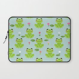 Frog cute kids room decor boys room baby nursery Laptop Sleeve