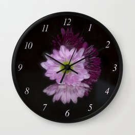 Floral Reflection Wall Clock