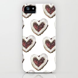 Valentine Heart Cookie Pattern iPhone Case