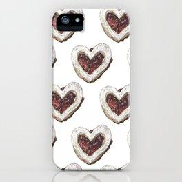 Valentine Heart Cookie Pattern iPhone Case