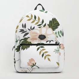 Winter floral - snowy blush petals Backpack