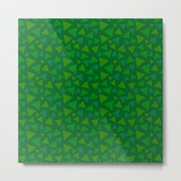 animal crossing floor patterns tri deep Green Metal Print