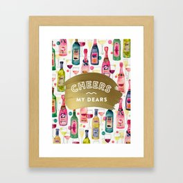 Cheers My Dears – Gold Framed Art Print