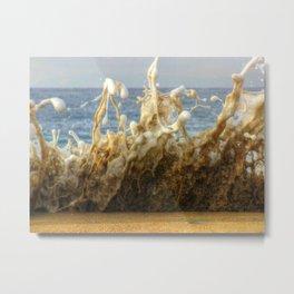 King Tide Huntington Beach California Metal Print